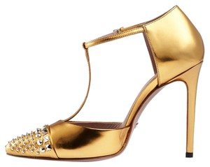 Gucci Women Heels Pumps Gold Formal