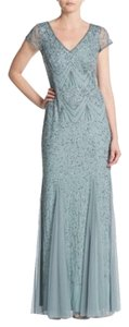 Adrianna Papell Embellished Godet Gown Dress