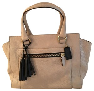 Coach Satchel in Beige and black