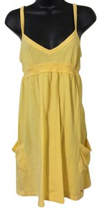 Hollister short dress Yellow on Tradesy