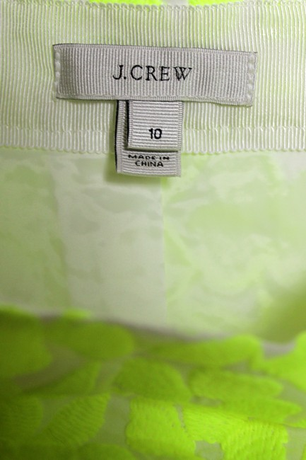J.Crew Woven Embroidered Lined Mini Skirt Green Image 3
