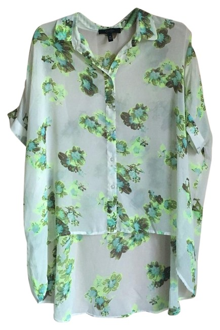Preload https://img-static.tradesy.com/item/18841951/jessica-simpson-neon-floral-high-low-button-down-top-size-8-m-0-1-650-650.jpg