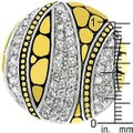 Other Cubic Zirconia Abstract Saucer Two-Tone Ring Image 2