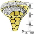 Other Cubic Zirconia Abstract Saucer Two-Tone Ring Image 3
