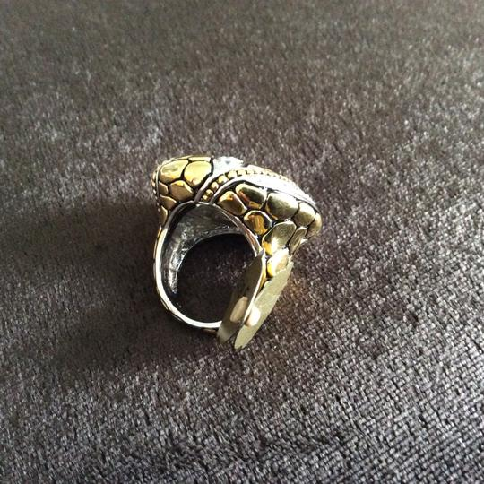 Other Cubic Zirconia Abstract Saucer Two-Tone Ring Image 6