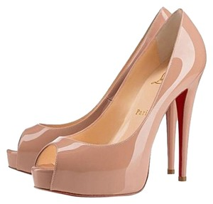 Christian Louboutin Louboutin Vendome Patent Heels Nude Pumps