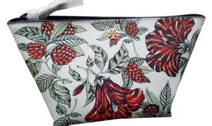 Tory Burch NEW Tory Burch Large floral flower Cosmetic Case makeup bag Pouch