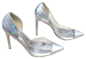 Nasty Gal Silver, clear, Platforms