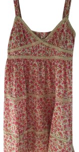 Free People short dress Pink, cream Floral Boho Bohemian on Tradesy