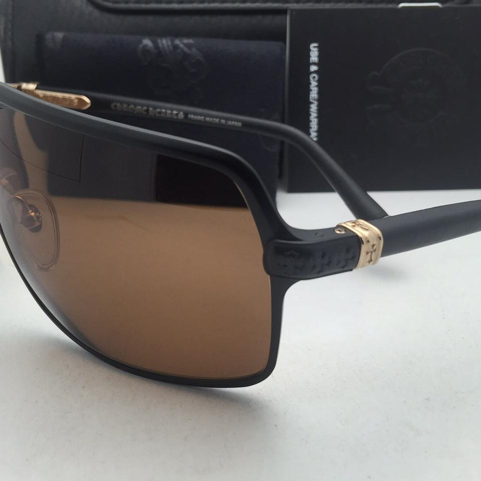 55cc83d698a8 Chrome Hearts Air Jerk Mbk Gp-bkl Black   Gold Aviator Frame Mbk Gp-bkl  Black-gold-leather Sunglasses - Tradesy