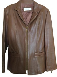 Jones New York Caramel Leather Jacket