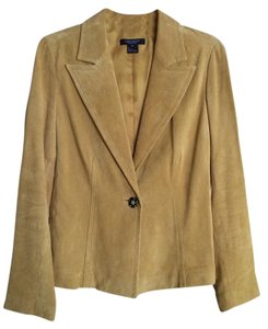Karen Kane Chartreuse Leather Jacket