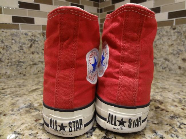 Red Vintage 80's Chuck Taylor Allstar Boots/Booties