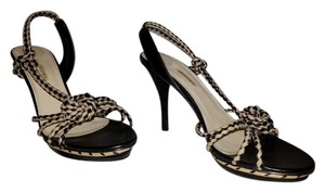 Max Studio Black and Tan Sandals