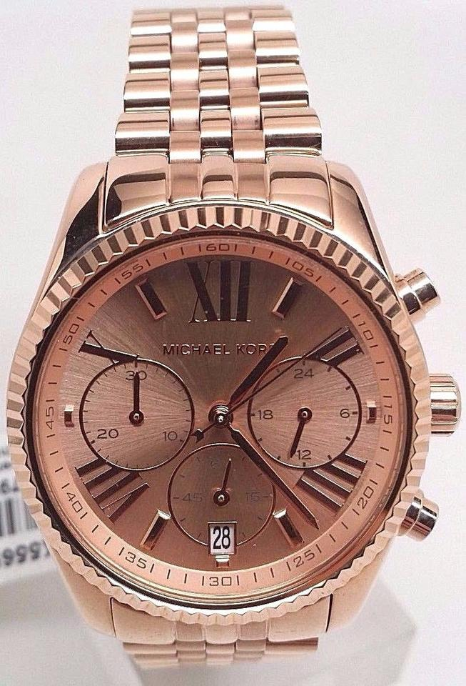 078d27d82400 Michael Kors Michael Kors Lexington Chronograph Rose Gold Pvd Ladies Watch  Mk5569 Image 0 ...
