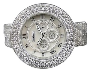 Jewelry Unlimited Mens Jojino By Joe Rodeo Simulated Diamond Avenger 54 Mm Watch