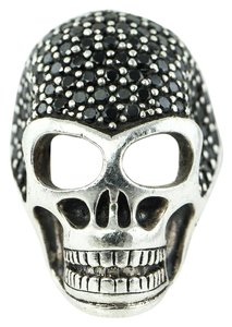 Thomas Sabo THOMAS SABO Black Crystals/CZ Paved Silver Skull Ring