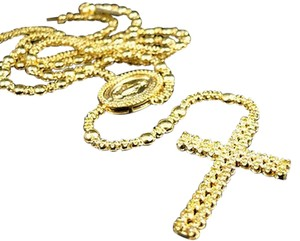 Jewelry Unlimited Mens,10k,Yellow,Gold,Rosary,Canary,Diamond,Chain,Necklace,10.0,Ct