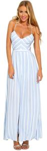 Blue & White Maxi Dress by Hello Molly Romper