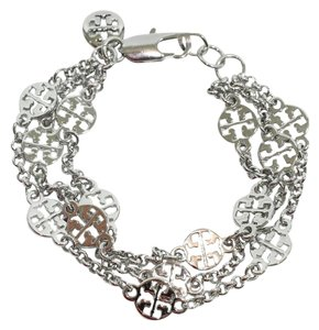 Tory Burch NEW TORY BURCH Multi Strand Logo Bracelet, Silver