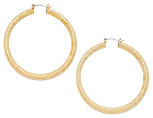 Modern Edge 14k gold filled metal hoop pin catch earrings