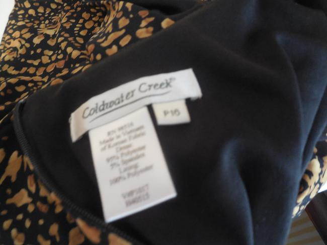 Coldwater Creek Petite Sleeveless Great Travel Ruched Waistband Rounded Neckline Dress Image 4
