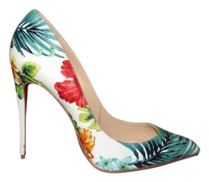 Christian Louboutin Pigalle White Pumps