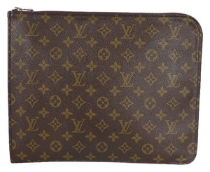 Louis Vuitton Vintage Laptop Brown Clutch