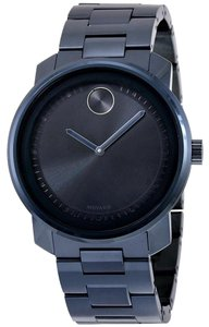 Movado Blue Ion Plated Stainless Steel Designer Unisex Sport Casual Watch