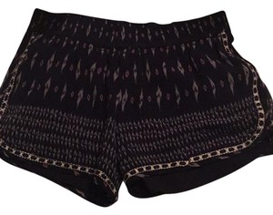 Joie Mini/Short Shorts Navy with grey ans lavender print