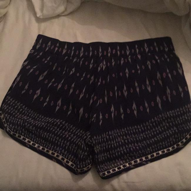 Joie Mini/Short Shorts Navy with grey ans lavender print Image 1
