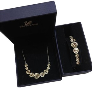 Swarovski Swarovski matching necklace and bracelet set