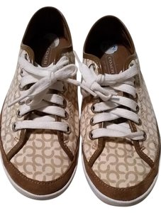 Coach Sneaker Tennis Brown and cream Athletic