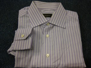 Canali Canali 100% Cotton L/s Dress Shirt Sz 16.5/42 - 33/34