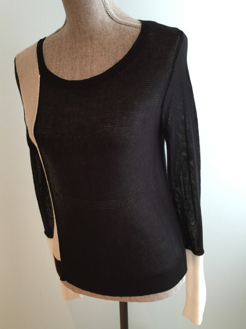 BCBGMAXAZRIA Tops Lightweight Tops Lightweight Sweaters Tank Tops Top Black and White Image 10