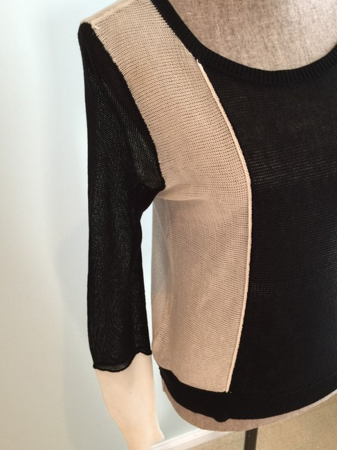 BCBGMAXAZRIA Tops Lightweight Tops Lightweight Sweaters Tank Tops Top Black and White Image 2