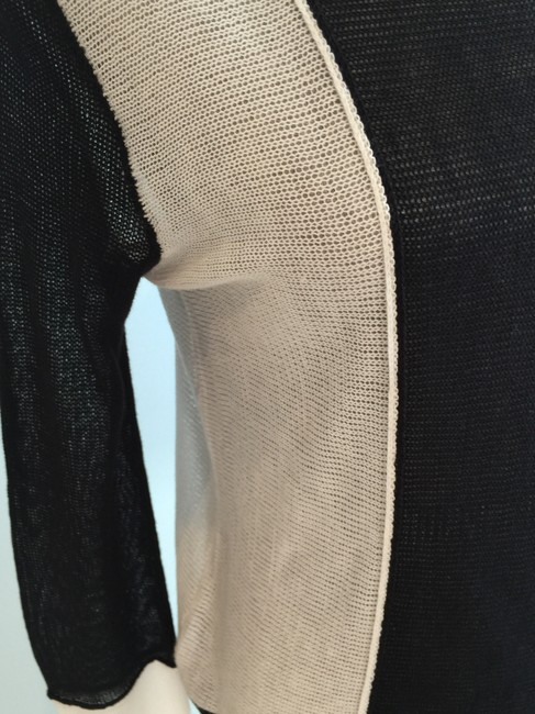 BCBGMAXAZRIA Tops Lightweight Tops Lightweight Sweaters Tank Tops Top Black and White Image 3