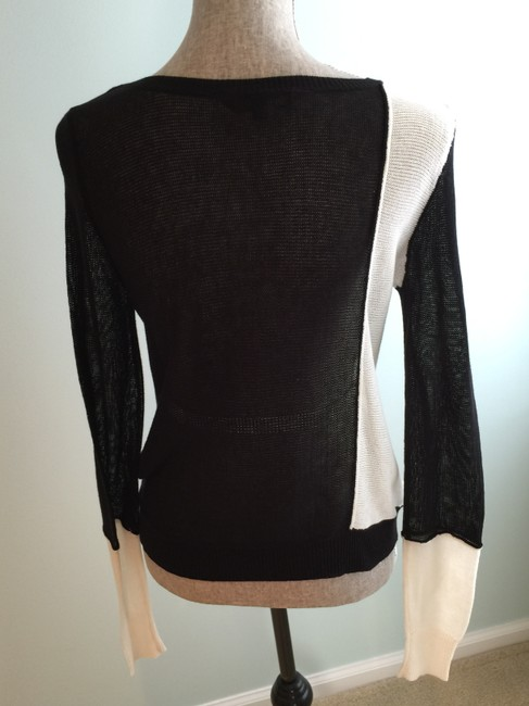 BCBGMAXAZRIA Tops Lightweight Tops Lightweight Sweaters Tank Tops Top Black and White Image 9