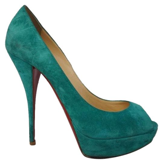 Christian Louboutin Turquoise Pumps Image 0