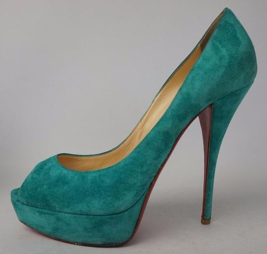 Christian Louboutin Turquoise Pumps Image 3