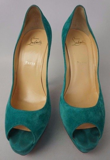 Christian Louboutin Turquoise Pumps Image 4