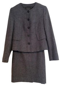 Escada Wool Herringbone Jacket + Skirt