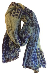 Nordstrom Scarf-blues and yellow