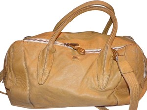 Pour La Victoire Lots Of Pockets/room Satchel in mustard yellow leather