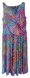 Ralph Lauren short dress Paisley Blue and PInk on Tradesy