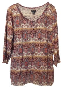Lucky Brand Xl Knit Top Multi-Color