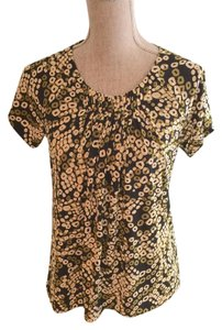 Josephine Chaus Lightweight Lightweight Print Top Olive Green, Ivory, Black