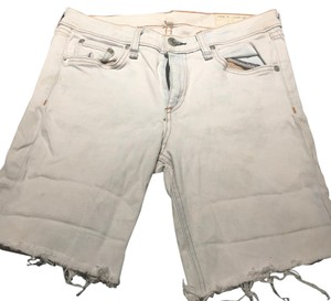 Rag & Bone Cut Off Shorts Off white