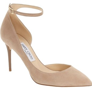 Jimmy Choo Lucy Louboutin Suede nude Pumps