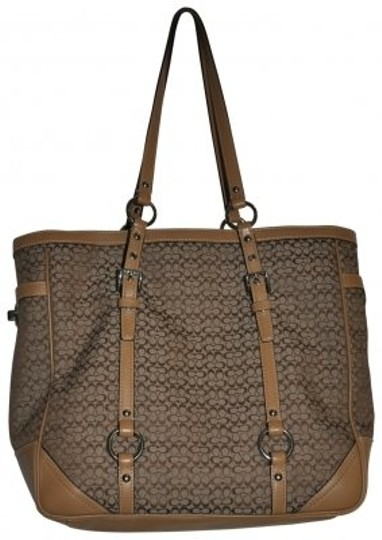 Preload https://img-static.tradesy.com/item/188512/coach-browntan-cloth-with-leather-trim-shoulder-bag-0-0-540-540.jpg